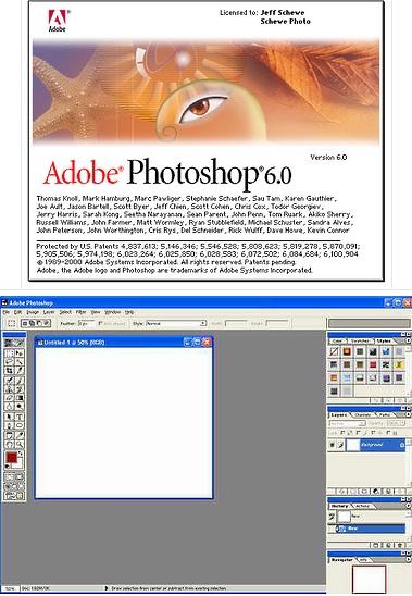 В Photoshop 6.0 появились стили слоя (Layer Styles) и расширенные возможности управления текстом