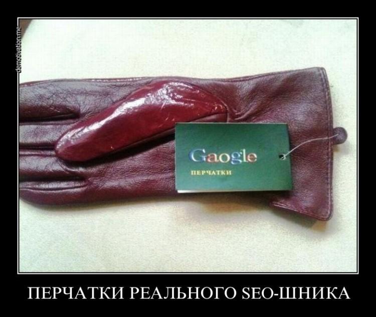 Перчатки взрослого seo-шника